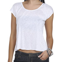 Chiffon Tie Slub Tee | Shop Tops at Wet Seal