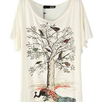 Under The Tree The peacock figure - Bat Sleeve T-Shirt