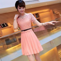 2013 Summer Chiffon Lace Lady Dress