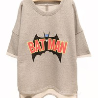 Buy Batman Free Style Cutton Hoodie/Tshirt For Women