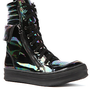 Jeffrey Campbell Sneaker Kirk Hi in Black Iridescent