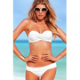 European Sexy Strapless Solid White Separates Bikini | Swimwear |