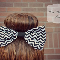 Chevron Hair Bow by justpeachy87 on Etsy