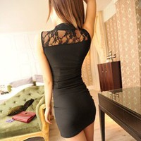 Sexy Lace Black Dress