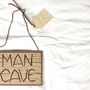 Portable MAN CAVE SIGN Card
