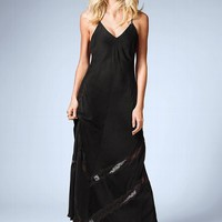 Lace-inset Maxi Dress