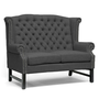 Sussex Dark Grey Linen Loveseat | Overstock.com