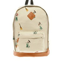 ASOS Backpack with All Over Print at asos.com