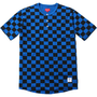 Supreme: S/S Checkered Henley - Royal