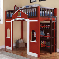 Firehouse Twin Loft Bed