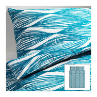 MALIN BLAD Duvet cover and pillowcase(s), turquoise - turquoise - Full/Queen (Double/Queen) - IKEA