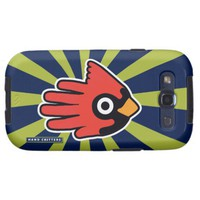 Cardinal Red Bird Samsung Galaxy SIII Covers from Zazzle.com