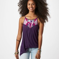 AE Embroidered Handkerchief Cami | American Eagle Outfitters