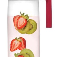 Takeya Fruit Infusion Jug, White/Raspberry, 66-Ounce:Amazon:Kitchen & Dining
