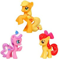 My Little Pony Friendship is Magic Class of Cutie Marks 3-Pack Apple Bloom, Diamond Dazzle Tiara & Applejack:Amazon:Toys & Games