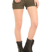 Judy Blue Olive Cargo Shorts | Hot Topic