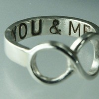 You &amp; ME Infinity Symbol Ring Sterling Silver Infinity Ring | ExCognito - Jewelry on ArtFire