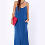 I'll Slink to That Royal Blue Maxi Dress