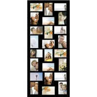 ADECO PF9107 24-Opening Black Wood Wall Hanging Collage Photo Picture Frames - Holds Twenty-Four 4x6 inch Photos,Home Decor Wall Art,Great Gift:Amazon:Home & Kitchen