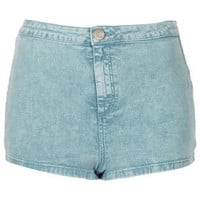 MOTO Mint Acid Denim Hotpants