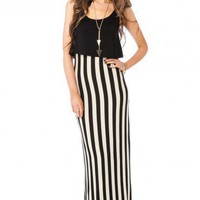 Verity Striped Maxi Dress - ShopSosie.com