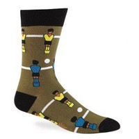 Men's Foosball Socks - Crew Socks by Sock it To Me - Whimsical & Unique Gift Ideas for the Coolest Gift Givers