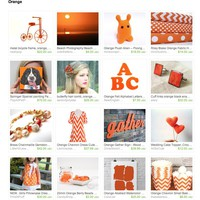 Orange by Brittany C on Etsy