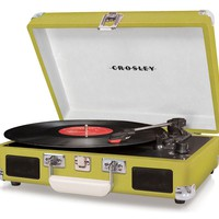 Crosley Cruiser Turntable CR8005A-OR - It's Portable! - Green Vinyl - Whimsical & Unique Gift Ideas for the Coolest Gift Givers