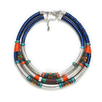 TRIPLE COMBINATION NECKLACE IN METAL AND TRIBAL STYLE FABRIC - Accessories - Accessories - Woman - ZARA United Kingdom