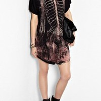 Black Bones Easy T-Shirt Dress by Draw In Light