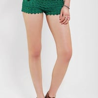 Tiered Crochet Pull-On Short