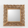 Carved Floral Wall Mirror