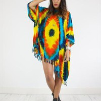 Amazing Vintage 90's Handmade Tie dye Print Kaftan Dress from House of Jam
