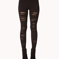 Shredded Leggings | FOREVER 21 - 2073863728