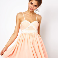 Ginger Fizz Diamonds Bandeau Prom Dress