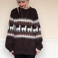 Vintage Alpaca Pattern Jumper from NATURE-NURTURE