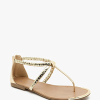 Harty-S Metal Toe Snake Strap Metal Detail T Str