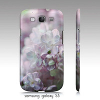 "Samsung galaxy S3 case, iphone 4,4s, 5 case, ""Lilacs"" purple flowers, floral photography"