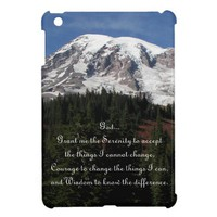 Serenity Prayer Rainier iPad Mini Case from Zazzle.com