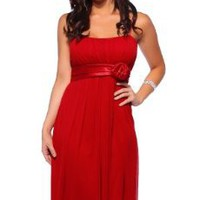 Sheer Spaghetti Strap Floral Layer Evening Bridesmaid Party Cocktail Dress S M L:Amazon:Clothing
