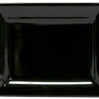 Amazon.com: COLORcode Rectangle Appetizer Plate, Black Truffle, Set of 6: Kitchen & Dining