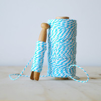 20 Yards Baker's Twine in Turquoise and White Cotton String