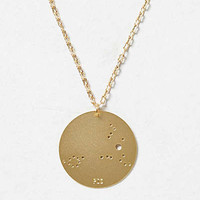 Anthropologie - Brass Zodiac Pendant Necklace