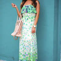 Love For Watercolors Dress: Seafoam/Multi | Hope's