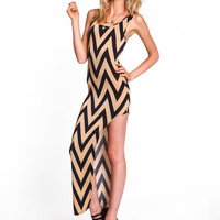 Zig Zag Cutaway Dress