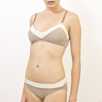 Chevron Bra - Cream/Taupe - Light Years