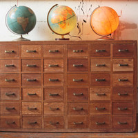 36 Drawer Wood Storage Unit Dresser