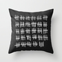 waiting.  Throw Pillow by Sara Eshak