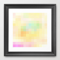Re-Created Colored Squares No. 59 Framed Art Print by Robert Lee