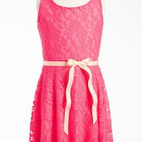 Zunie Sleeveless Lace Dress (Little Girls & Big Girls) | Nordstrom